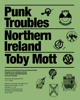 Punk Troubles: Northern Ireland by Toby Mott. Reception and books signing at American Irish Hist. Society