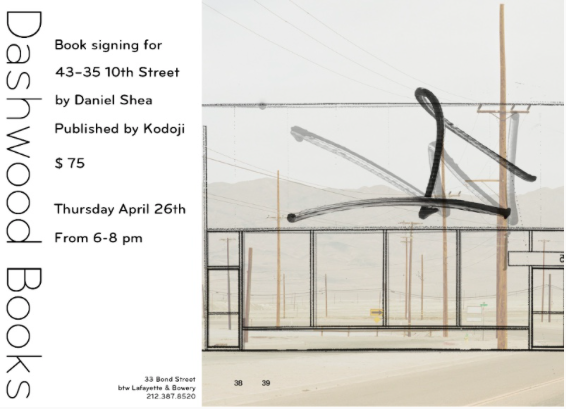 Daniel Shea book signing for 43–35 10TH STREET