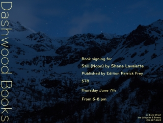 Shane Lavalette book signing for Still (Noon)