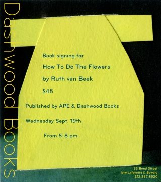 Ruth van Beek book signing for How To Do The Flowers