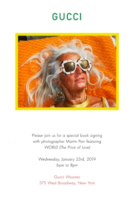 Martin Parr book signing at Gucci Wooster