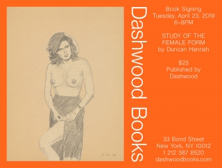 Duncan Hannah book signing for Studies of the Female Form