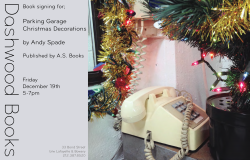Dashwood Books signing for Parking Garage Christmas Decorations by Andy Spade