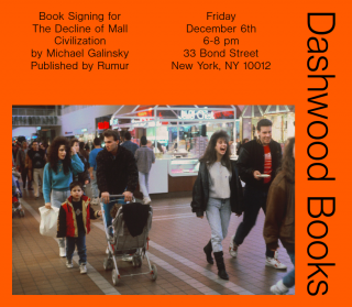 Michael Galinsky book signing for The Decline of Mall Civilization