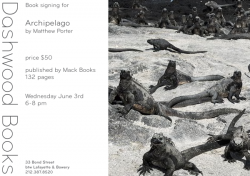 Dashwood Books signing for Archipelago by Matthew Porter