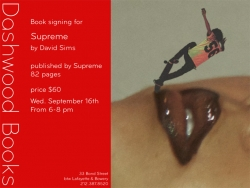 Dashwood Books announces Supreme by David Sims
