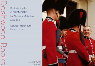 Dashwood Books signing for Ceremony by Alasdair McLellan