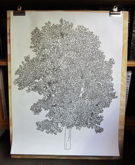 Tree (poster). Jason Polan.