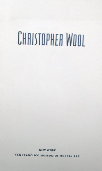 New Work. Christopher Wool.