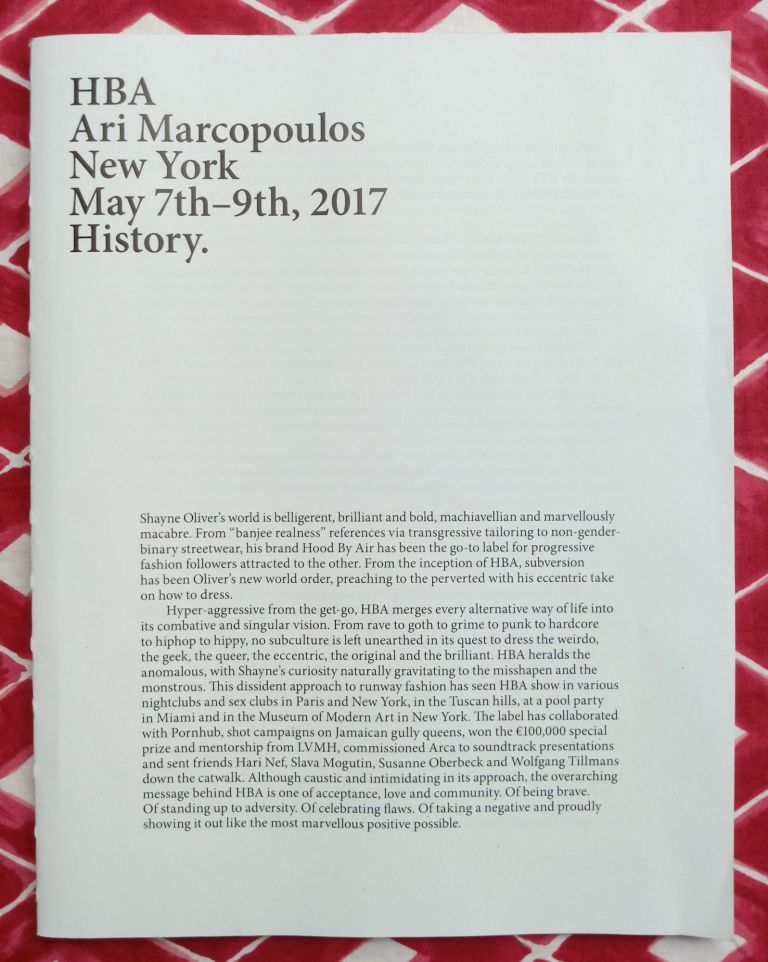 HBA Ari Marcopoulos New York May 7th-9th, 2017 History. Ari Marcopoulos.