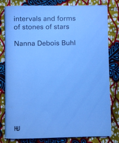 Intervals and Forms of Stones of Stars. Nanna Debois Buhl.