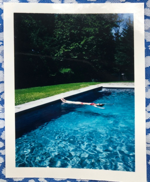 The Summerhouse Pool. Lea Simone Allegria Charles Johnstone, cover illustration and model.