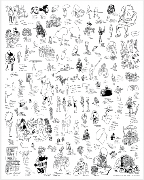 Every Person in New York (Poster). Jason Polan.