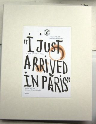 I Just Arrived in Paris. Juergen Teller.