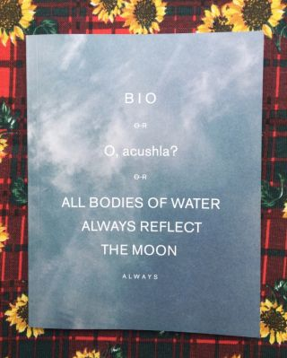 Bio or O, acushla? All Bodies of Water Reflect the Moon. Ali Van.